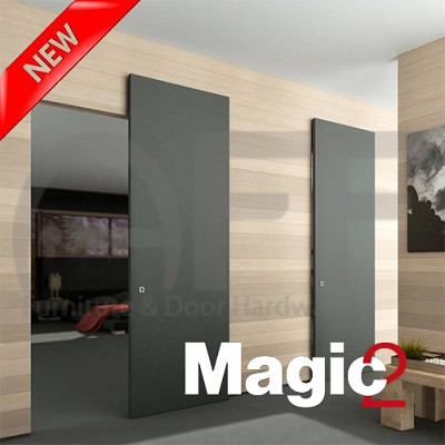 Magic 2 1800 Concealed Sliding System For Barn Wood Door Glass Barn Doors Wood Doors Barn Doors Sliding