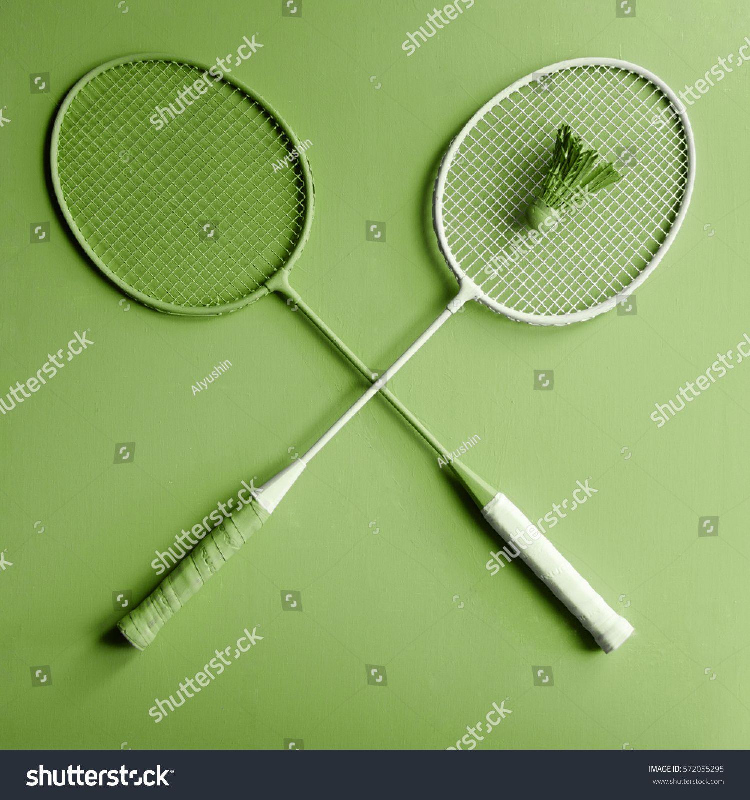 Green Creative Sport Badminton Rackets On Fashion Design Greenery Background Ad Affiliate Sport Badminton Gr Greenery Background Badminton Racket Rackets