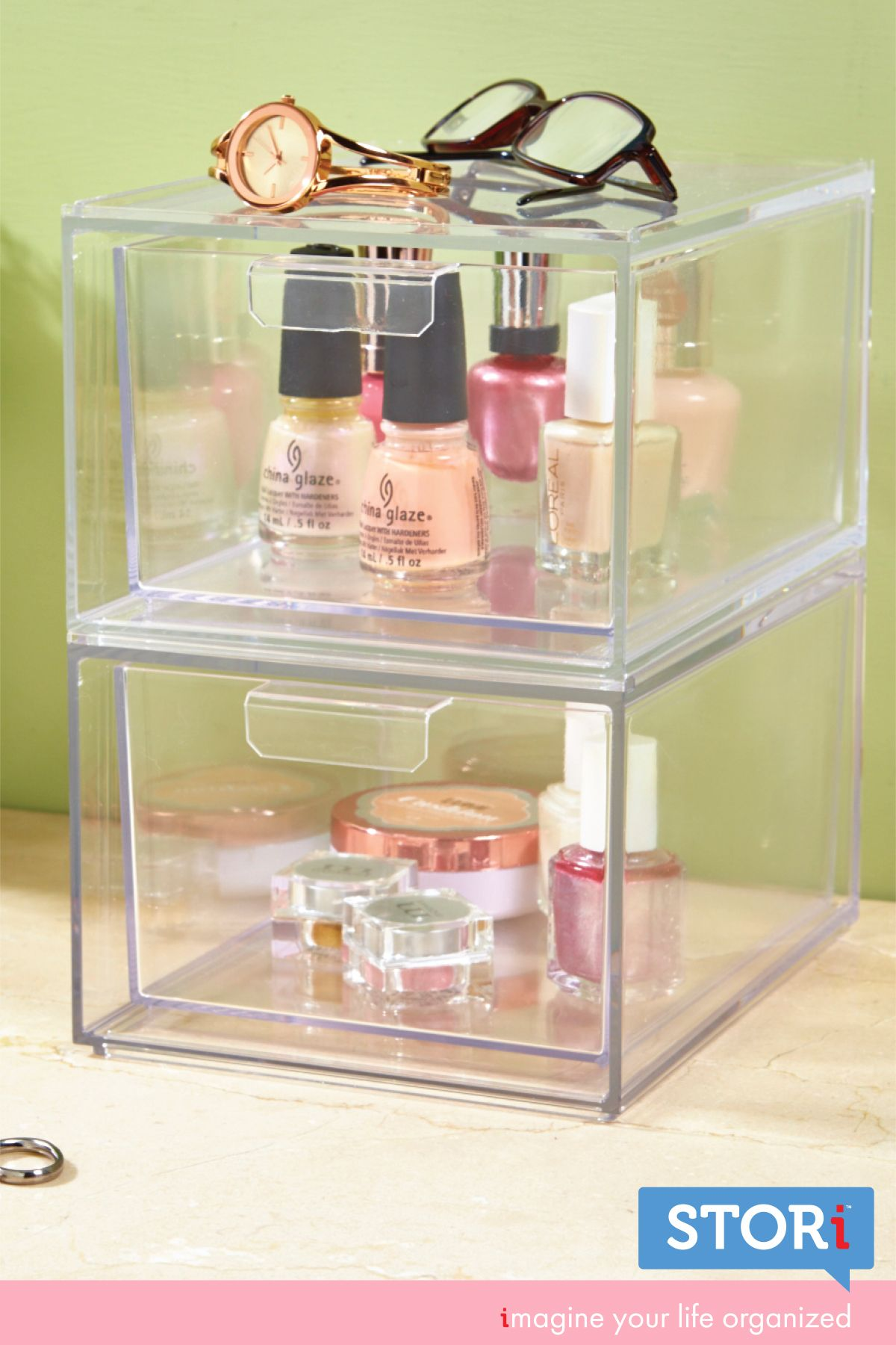Audrey Cosmetic Organizer Drawers Makeup palette