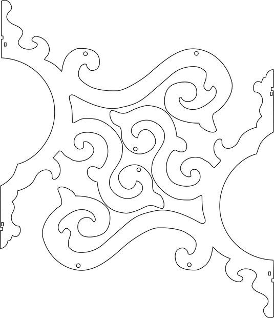 Template 3d Laser Cutting Files Picture Of Cut Chandelier Arms