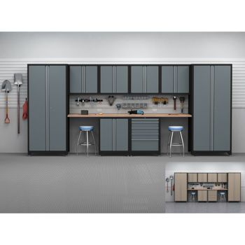 Newage 10 Piece 18ga Professional Series Workshop Garage Cabinetry Garage Cabinets Garage Interior Garage Workshop