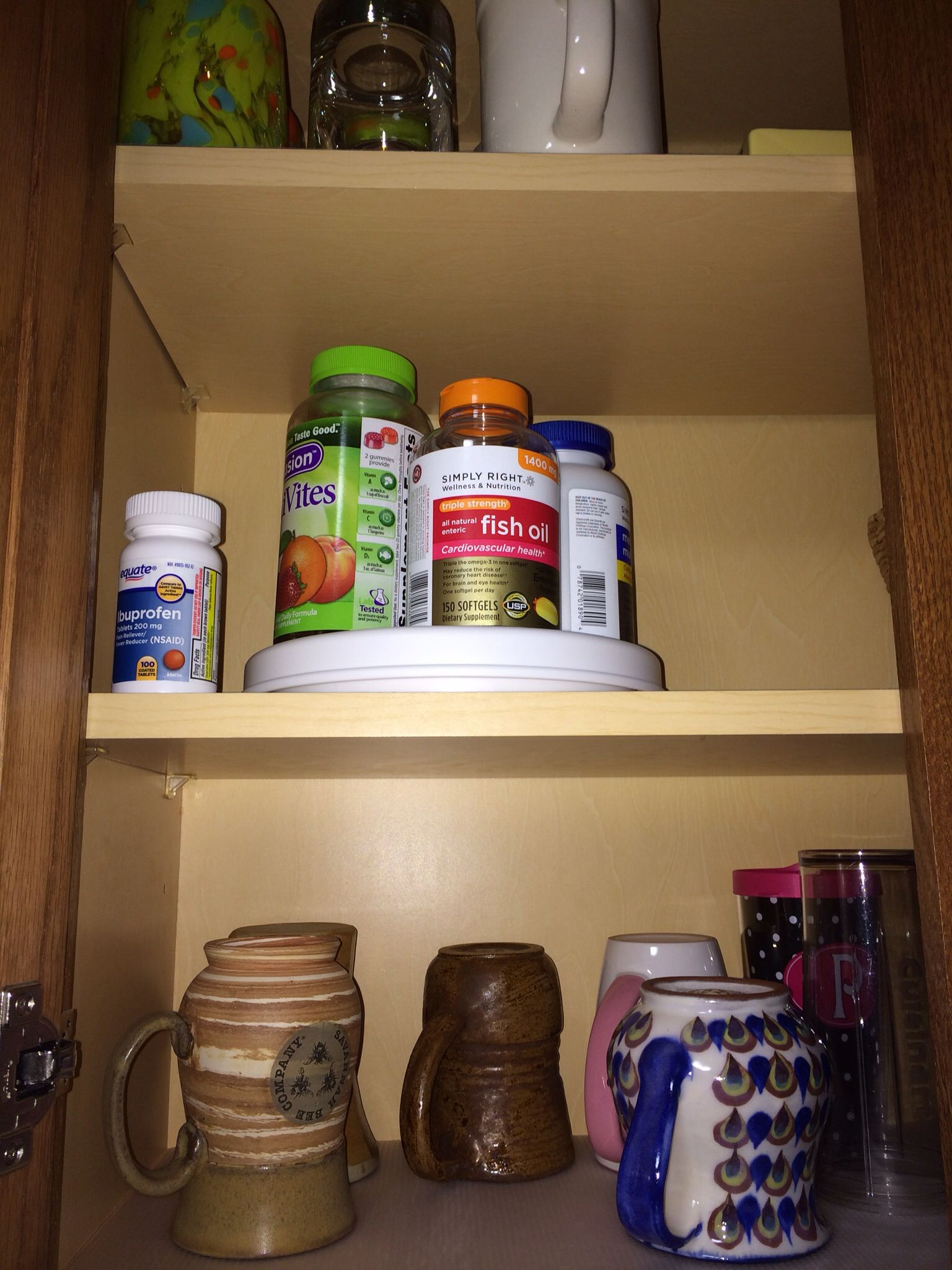 Copco 9 turntable lazy Susan holds vitamins