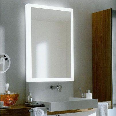 Mira esta excelente idea para iluminar el espejo de tu ...