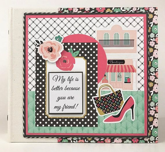Friends Mini Album Kit Or Premade Scrapbook Album Gift Friendship