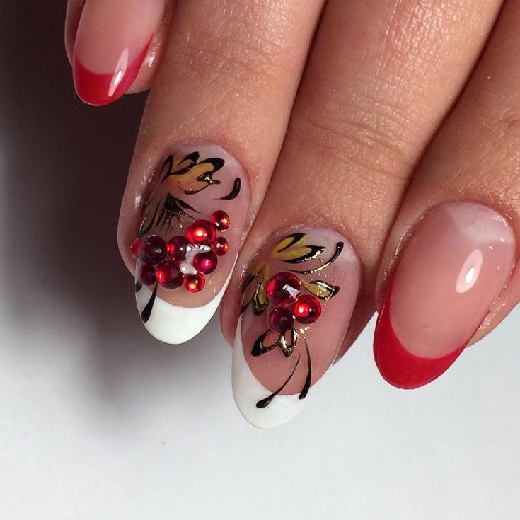 Best 80+ Red french tip nail designs 2018 | Nifty Nail Styles ...