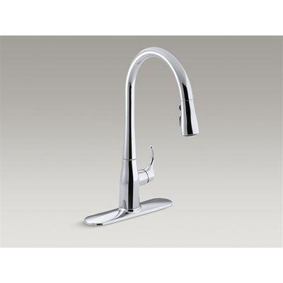 kohler co r596 sd cp simplice polished chrome 1 handle pull down rh pinterest com