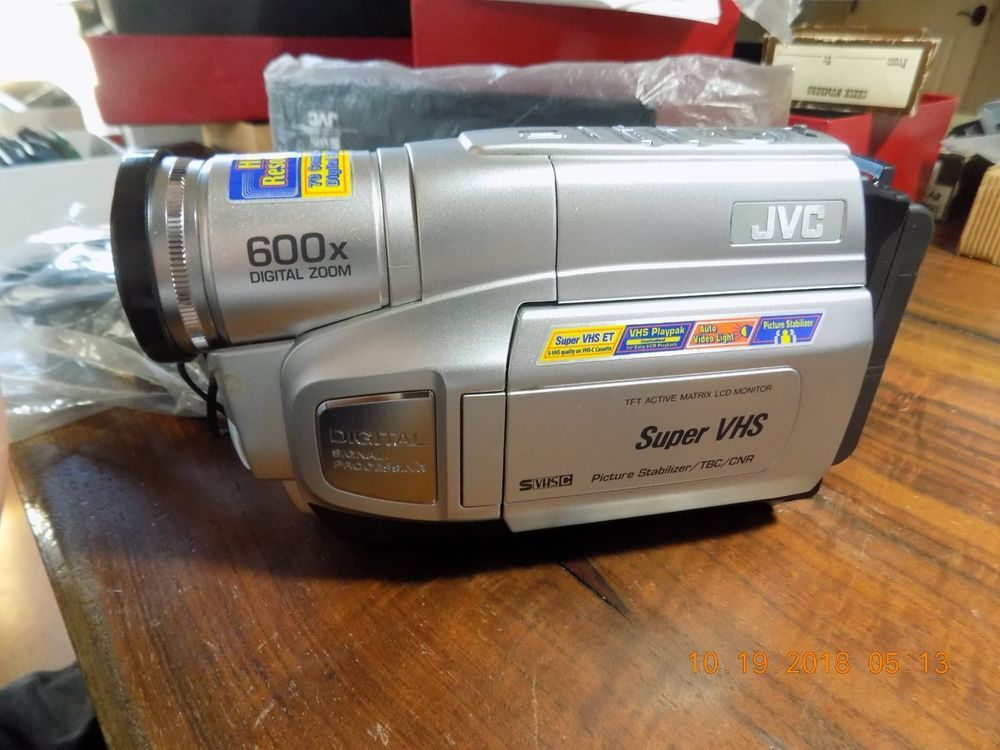 Jvc Super Vhs Gr Sxm250u Camcorder 600x Digital Zoom New Never Used Digital Zoom Jvc Vhs