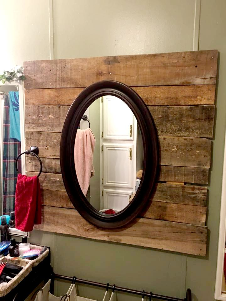 Image result for mount oval mirror on