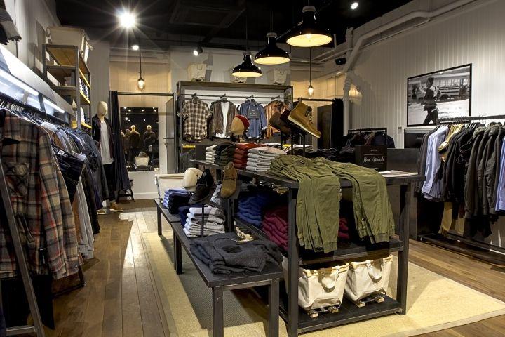 0e9d9eccfac4 Бесподобный дизайн магазина мужской одежды Industrie store в Лондоне ...