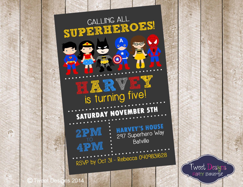 birthday party invitations printable%0A SUPERHERO BOY Invitation  Printable Birthday Invitation  Superhero  Invitations  Captain America Invitation  Superhero