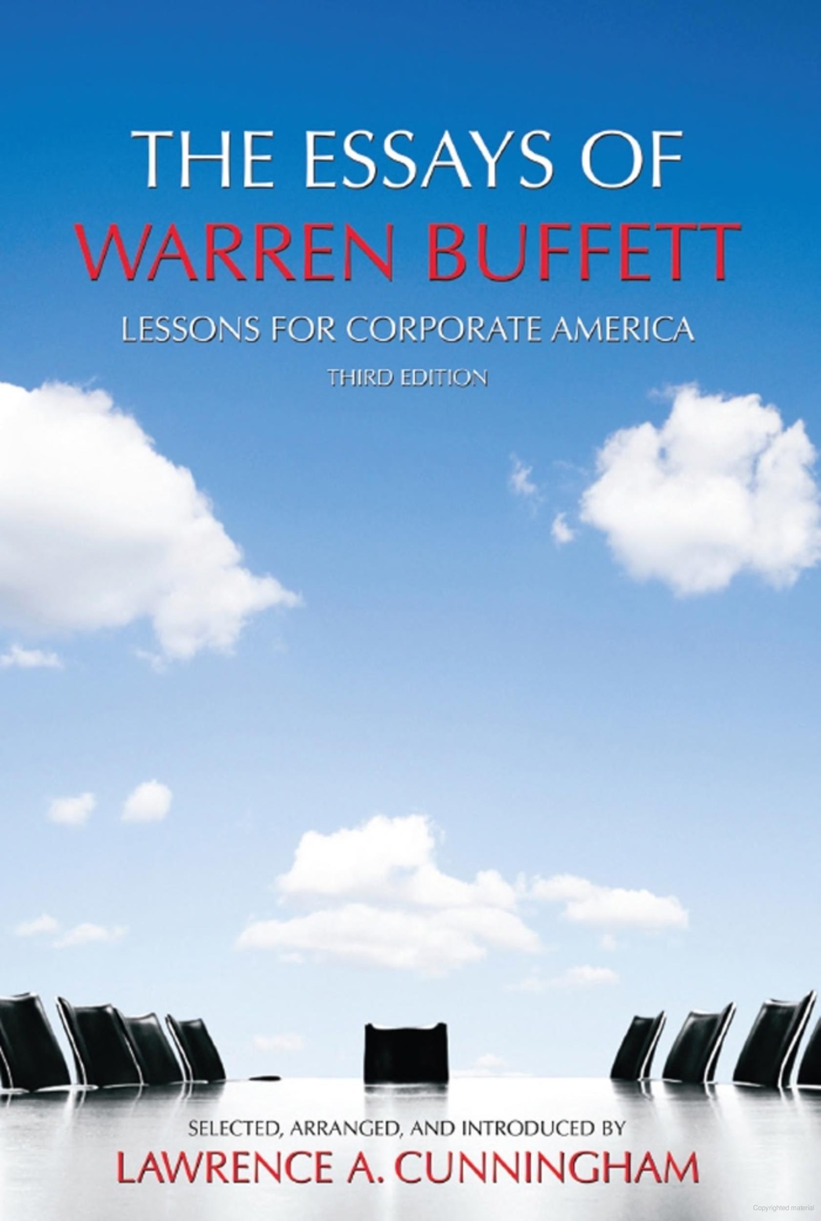 the essays of warren buffett lessons for corporate america third rh pinterest com