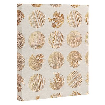 East Urban Home Vanilla Dot Graphic Art on Wrapped Canvas