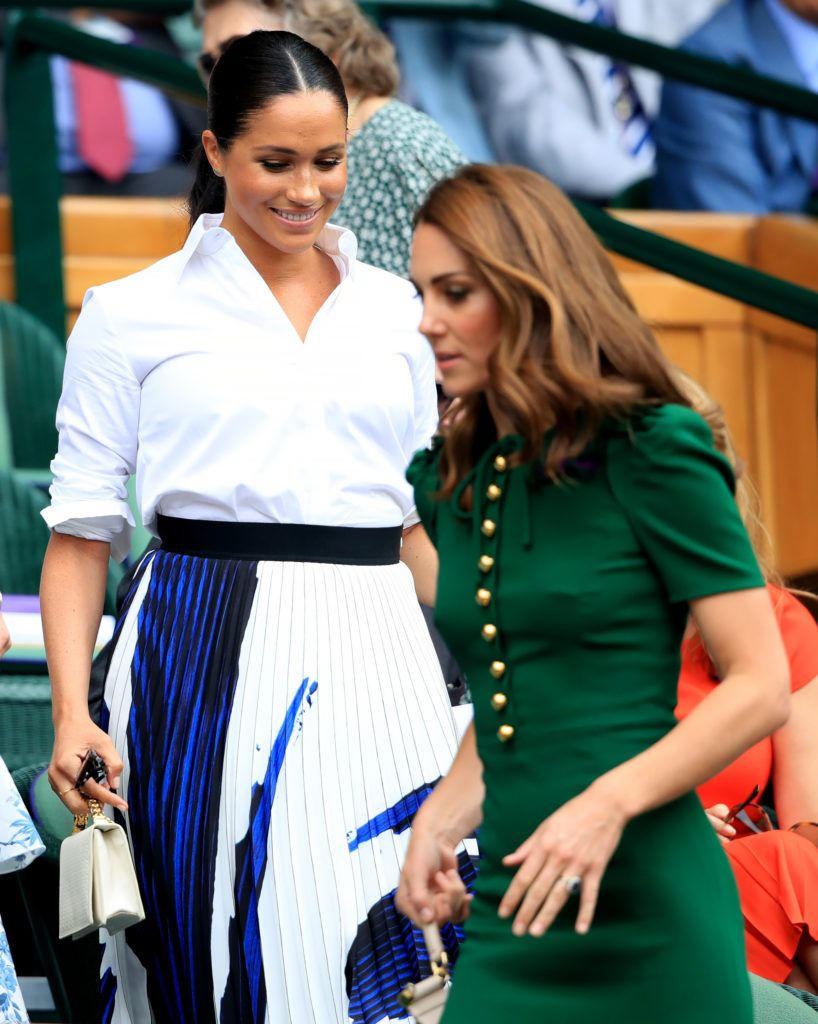 767d889cea5 Meghan, Kate & Pippa Attend Wimbledon | Kate Middleton and Prince ...