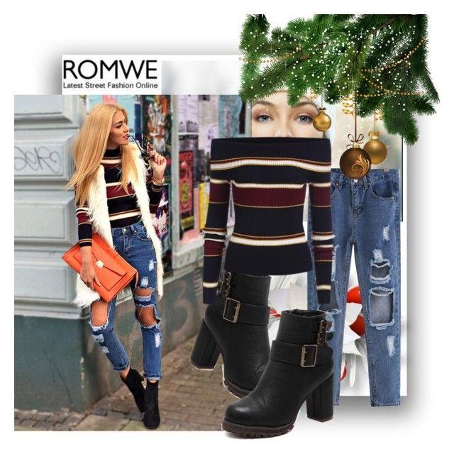 """Romwe 6"" by danijela-3 ❤ liked on Polyvore featuring women's clothing, women's fashion, women, female, woman, misses, juniors and romwe"