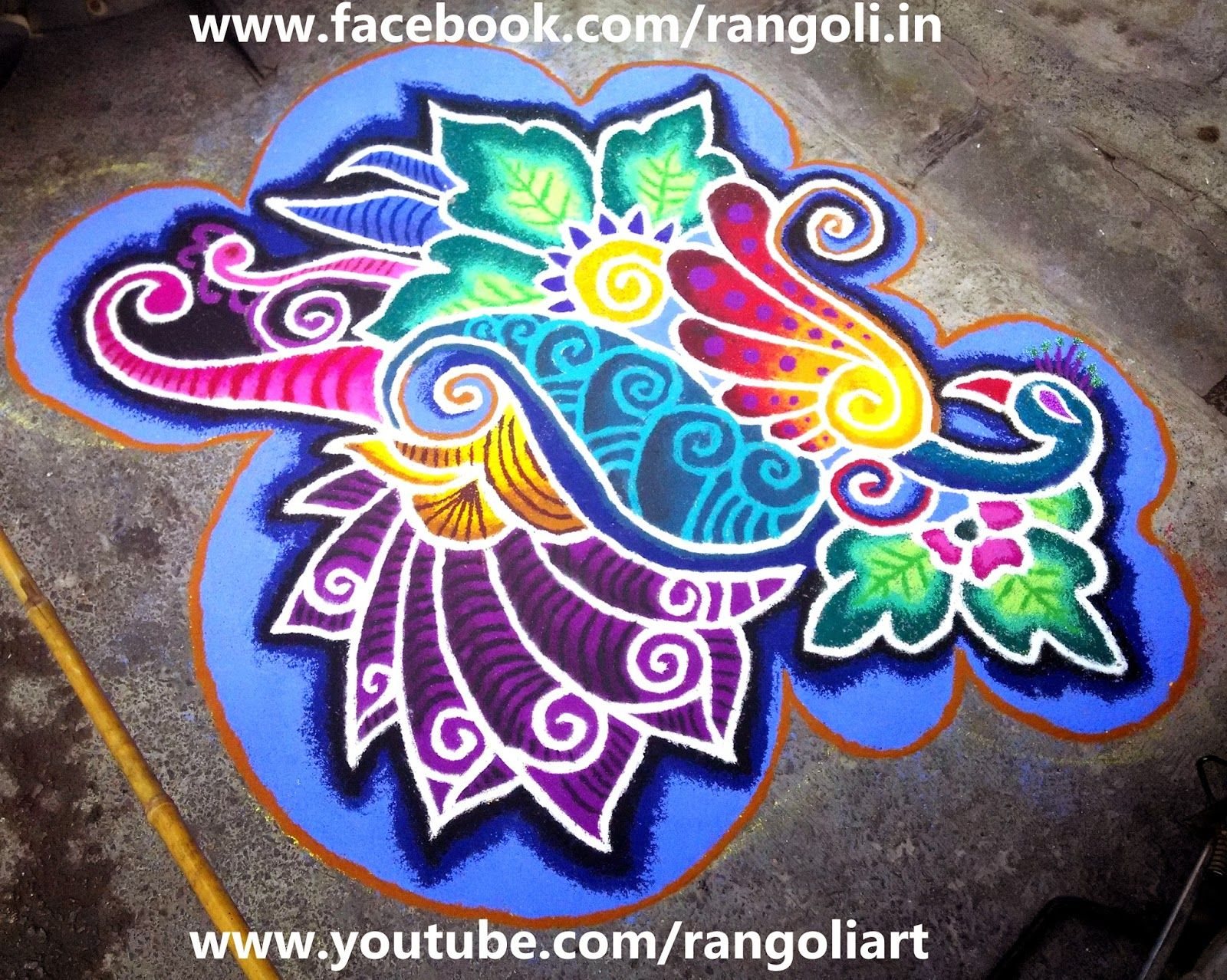 What are some features of Rangoli art?