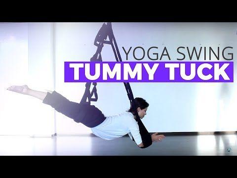 Aerial Yoga Tummy Tuck Tutorial on the Omni Yoga Swing - YouTube