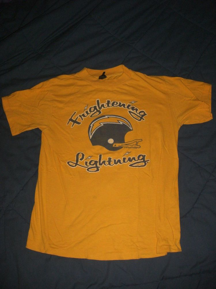 rare vintage san diego chargers shirt m frightening lightning 70 s 80 s  from  32.0 0cfed8dd2