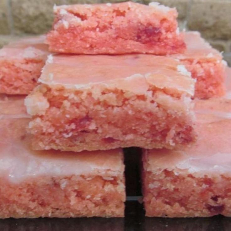 Strawberry Brownies -