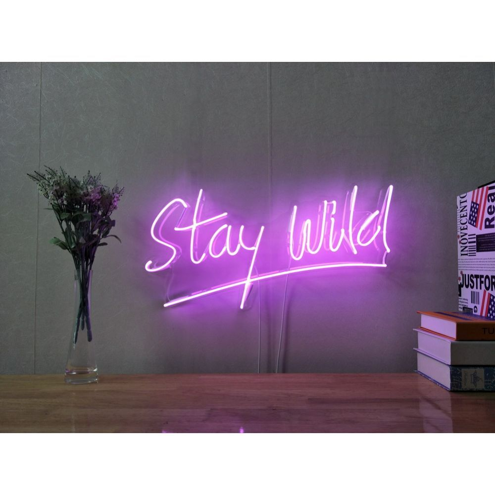 Stay Wild Custom Dimmable LED Neon Signs for Wall Decor ...