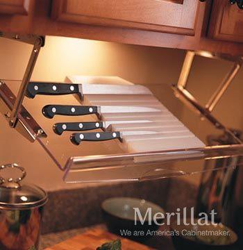 wall knife rack pull down classic accessories merillat rh pinterest com