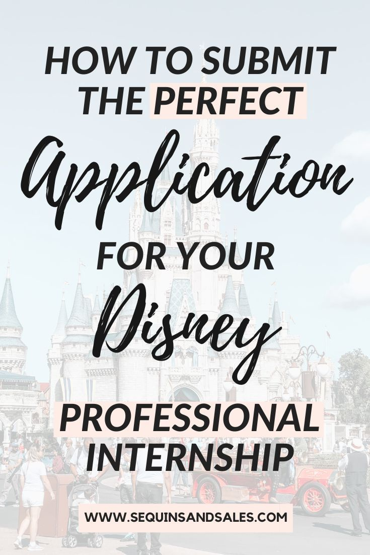 Disney Professional Internship Application & Interview