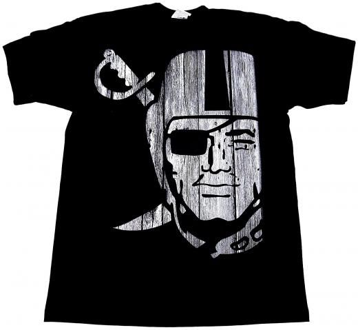 038cb828 Shaka Wear Raiders T-shirt Oakland La Raider Silver Black Nation Tee Adult  L-4xl New Graphic Regular 100% Heavyweight Cotton Short Sleeve