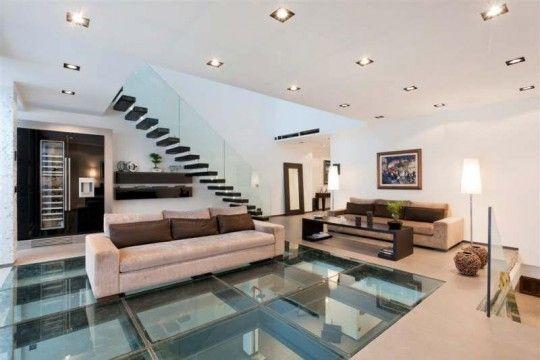 Une villa de prestige esprit loft à Courbevoie Architecture - escalier interieur de villa