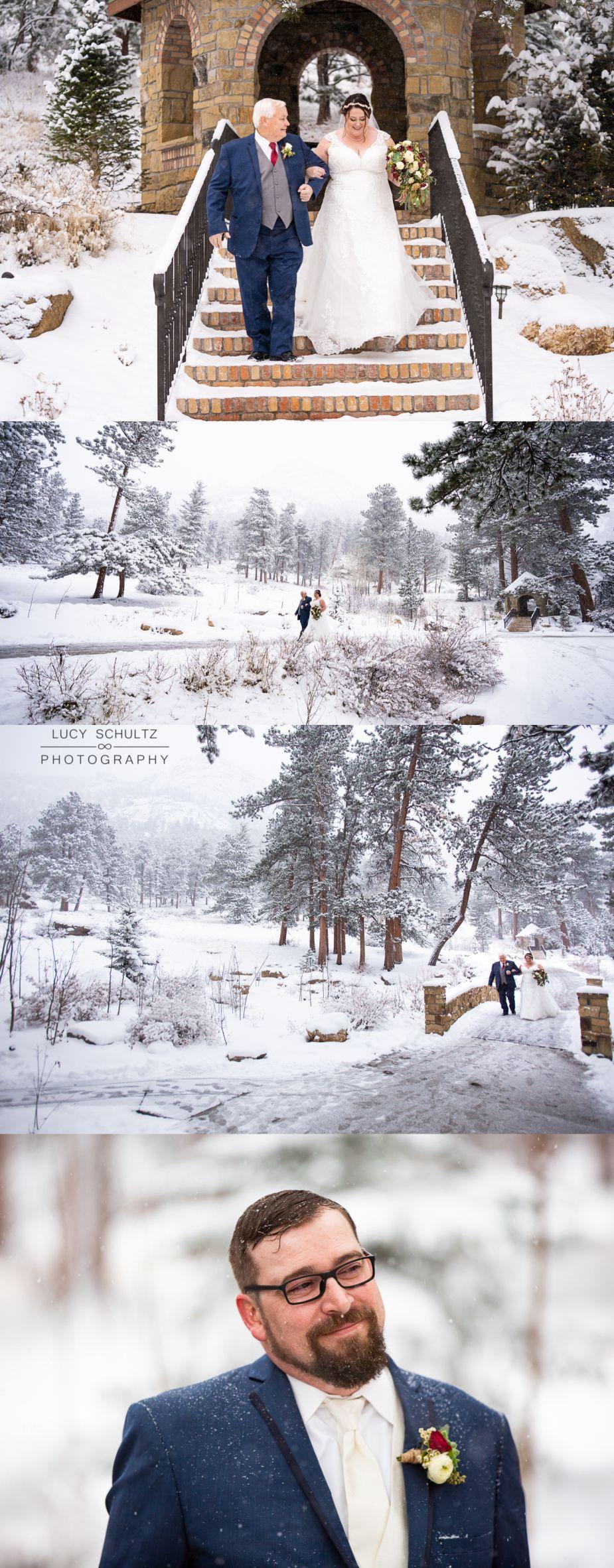 Winter at Della Terra Mountain Chateau Estes Park Wedding
