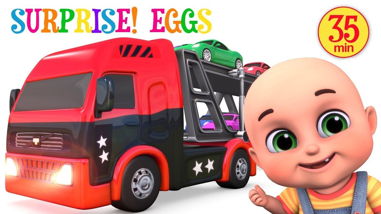 Car toys for toddlers  Car Toys Loader Truck Videos  Learn Colors  Kids Toys  Surprise