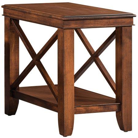 crossridge skinny end table amish end tables end tables wood rh pinterest com