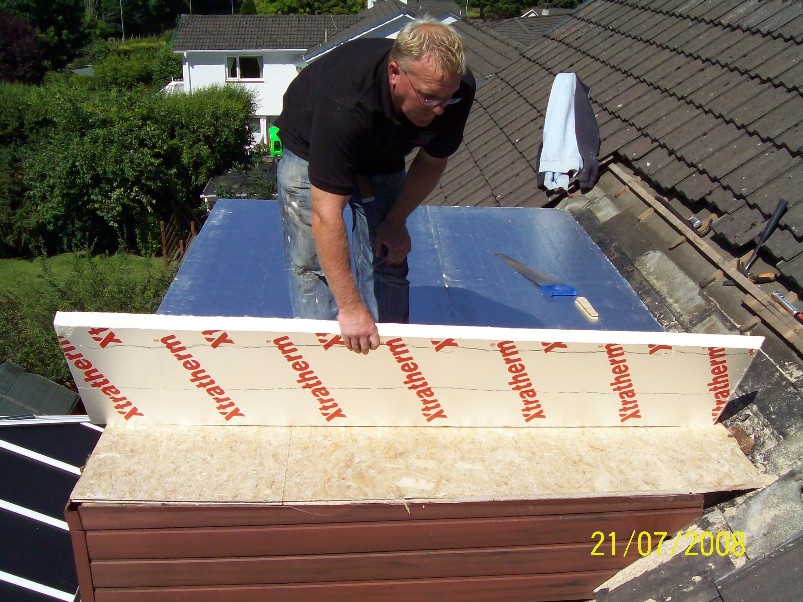 #Installing #Flat #Roof #Insulation | Flat roof repair ...