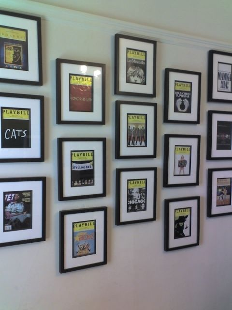 Re playbill wall questions home for Broadway bedroom ideas