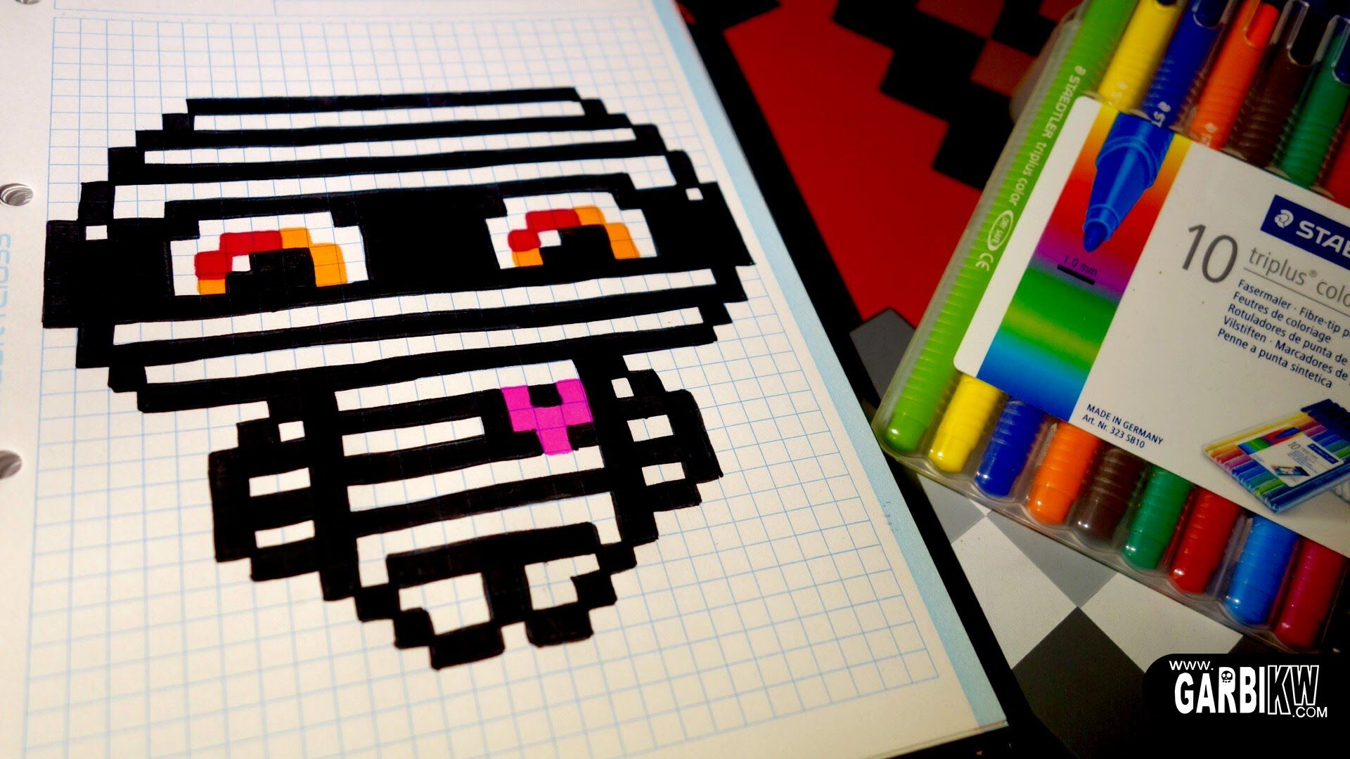Handmade Pixel Art How To Draw A Kawaii Mummy By Garbi Kw