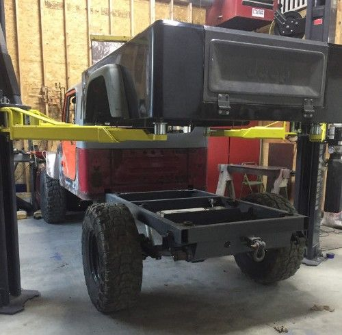 petr s dinoot jeep tub pickup project with the rear frame completed rh pinterest com