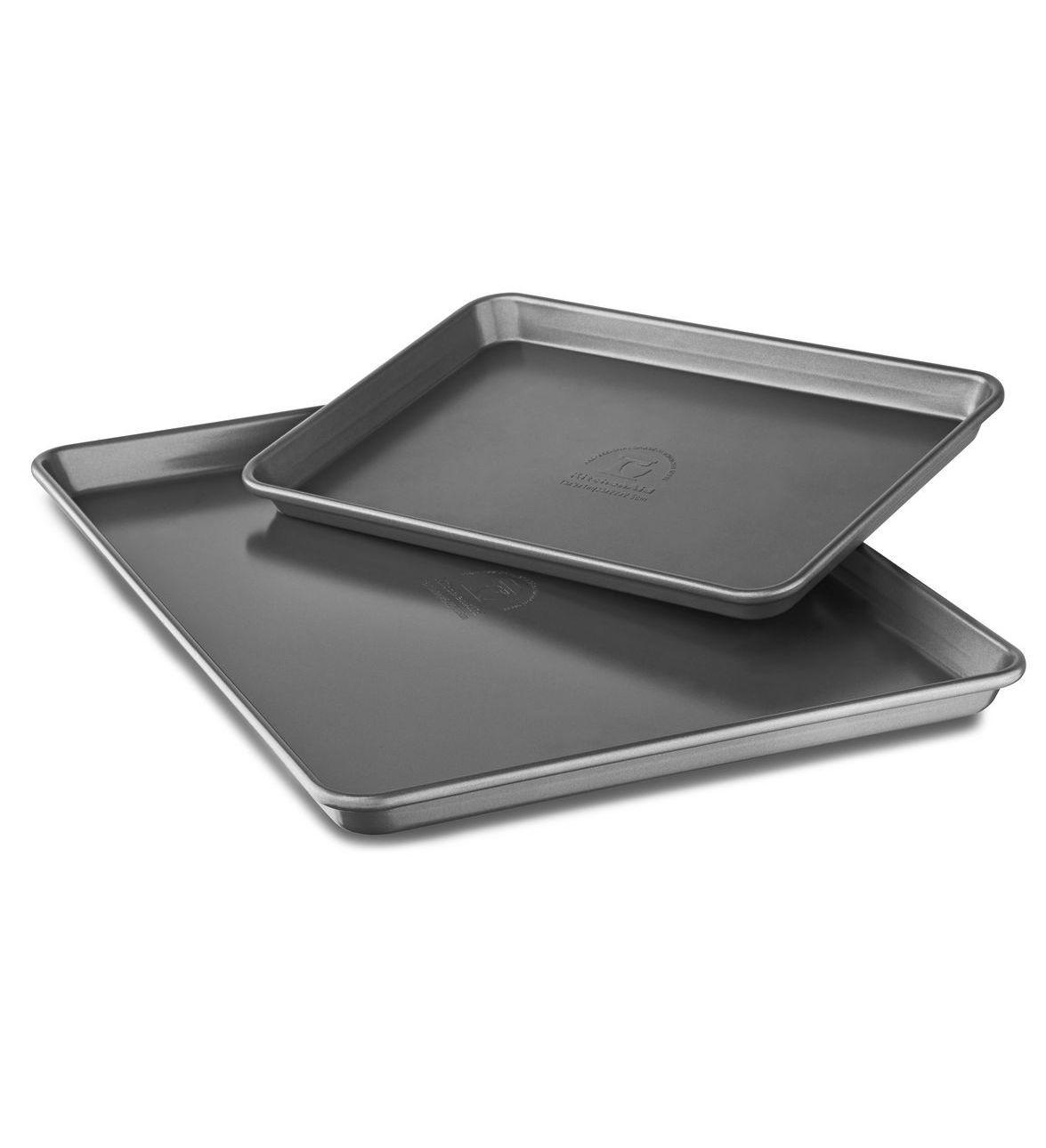 kitchenaid nonstick quarter sheet and half sheet pans set of 2 rh pinterest com