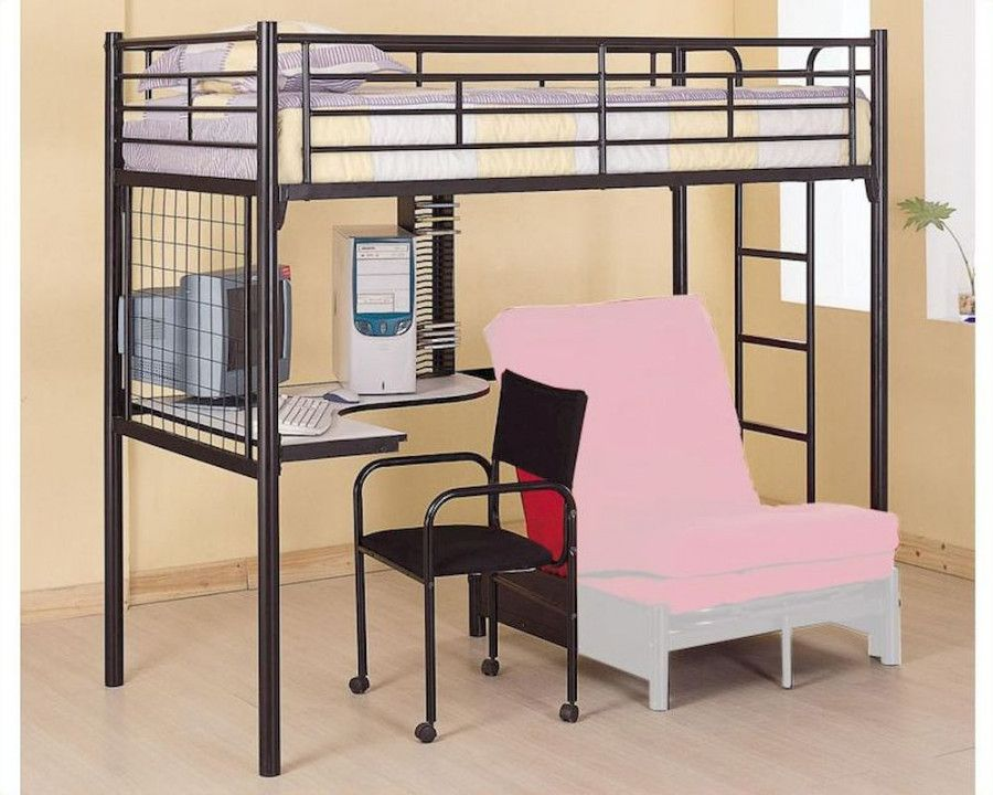 loft bed with desk and futon chair best desk chair for back pain rh pinterest com