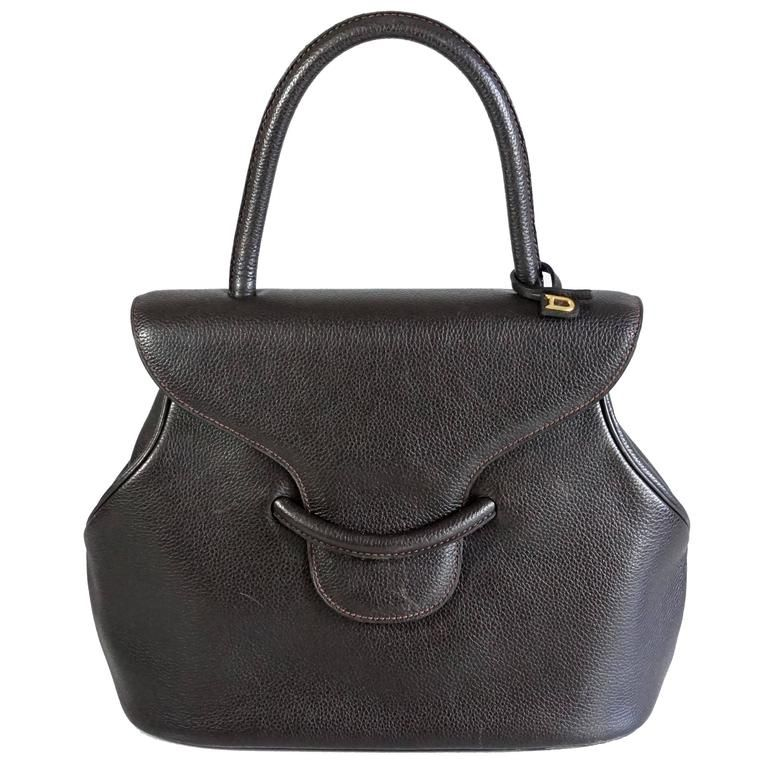 Pebbled Leather Top Handle Bag