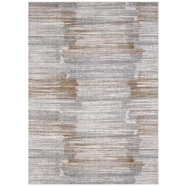 Enigma Abstract Beige Gray Brown Area Rug In 2020 Brown Area Rugs Karastan White Runners