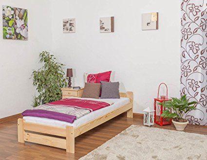 Jugendbett / Kinderbett Vollholz Kiefer, Massiv, Natur, Inkl