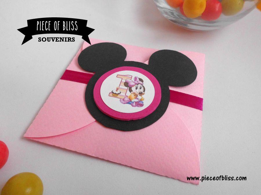 Tarjeta Minnie Tarjetas Invitaciones y Souvenirs Montevideo Cards Pinterest Minnie