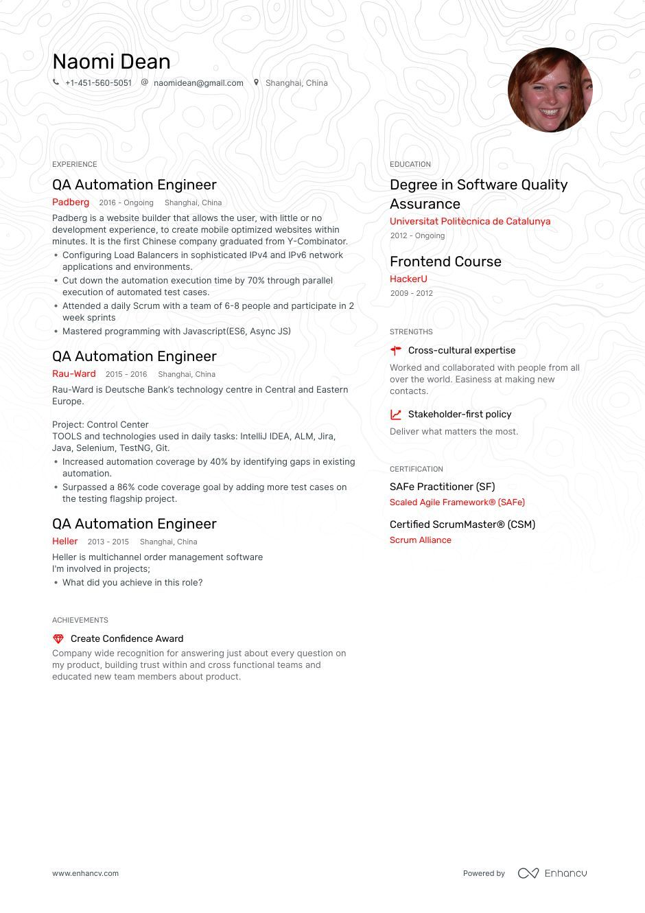 Qa Automation Resume Example and guide for 2019 Resume