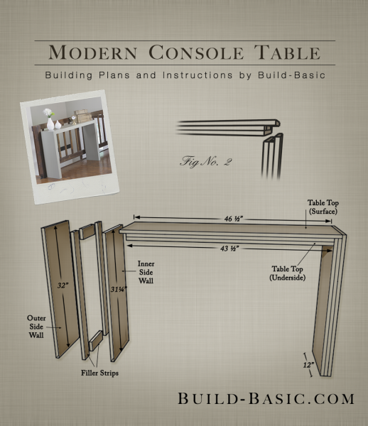 Build A Modern Console Table Modern Console Tables Modern Console Console Table