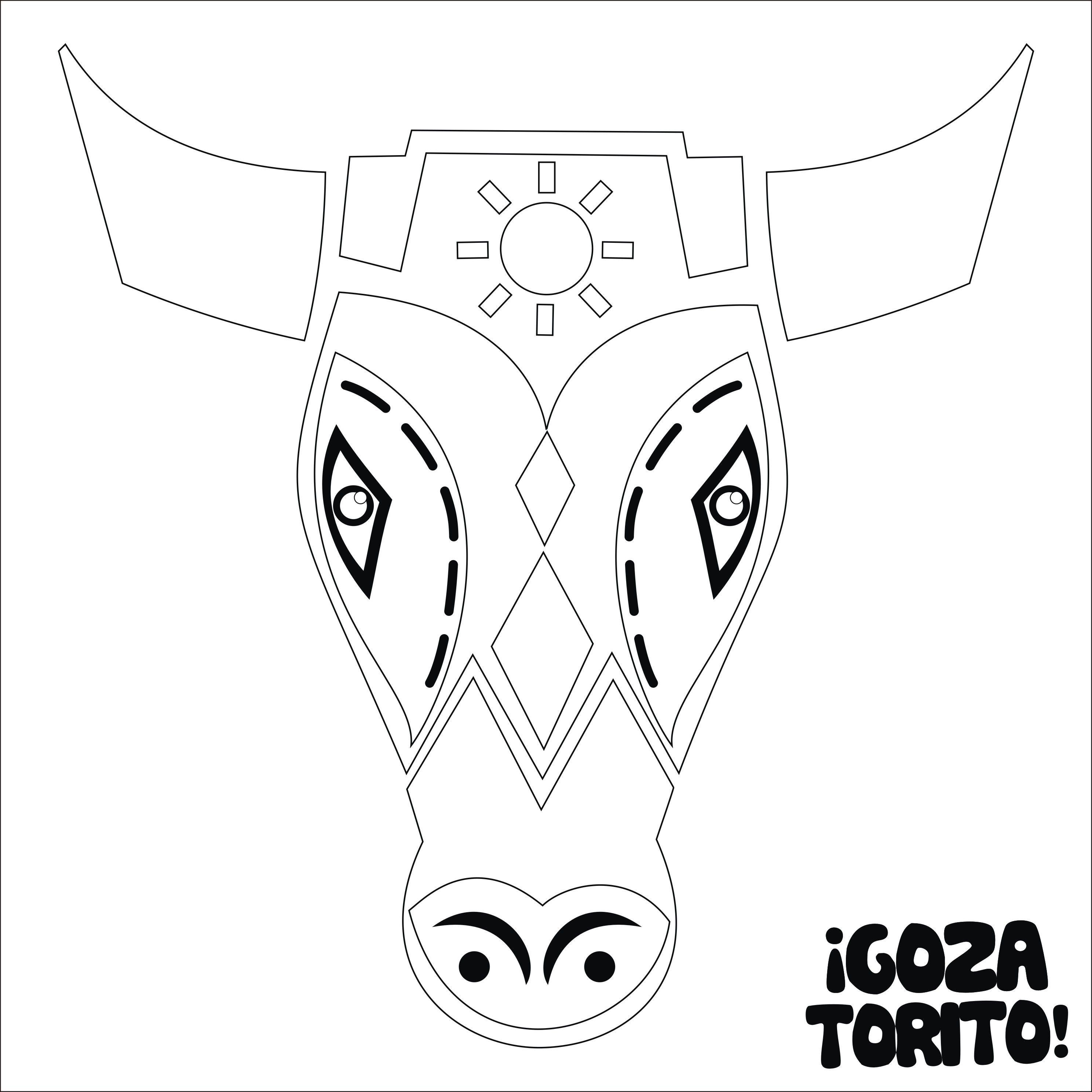 torito de carnaval para colorear - Buscar con Google | Spanish Art ...