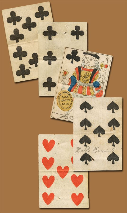 Playing Cards 1700s A Card Art Cards Fortune Cards