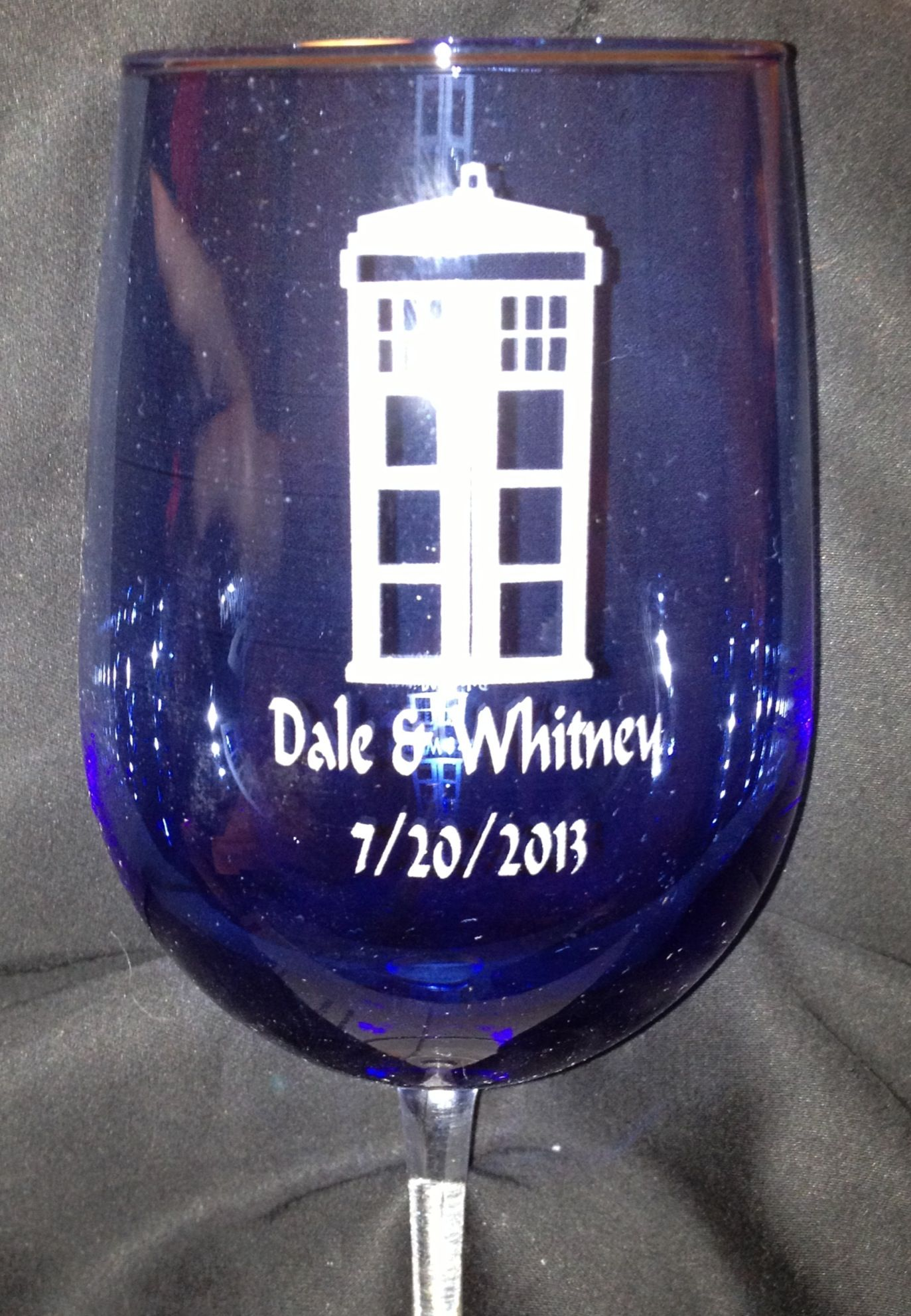 Personalized Wine Glasses For Doctor Who Themed Wedding Doctorwho