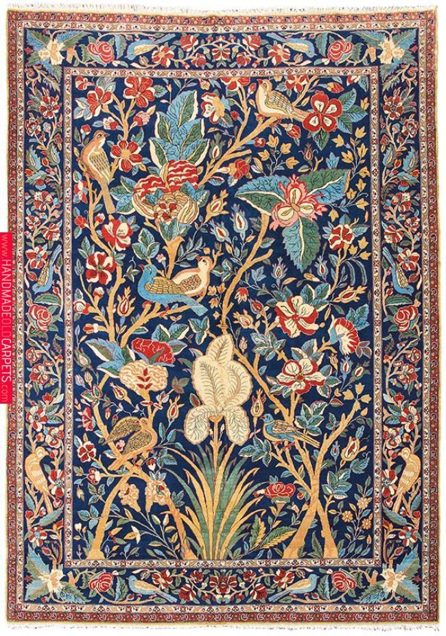 Piece From Northern Persia A Tehran Carpet Above Dating To The Period Around 1930 Depicts Exuberant Bird And Floral Scenes Craftsman Decor In 20 Craftsman Decor Rugs On Carpet Persian Carpet