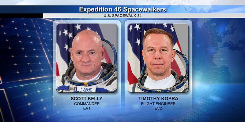 ISS Astronauts On Spacewalk