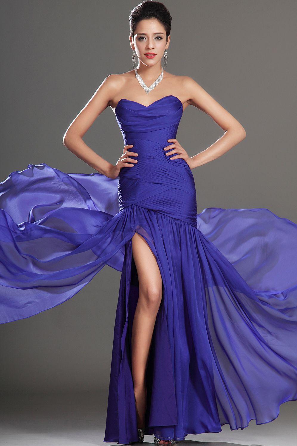 Sirena novia piso-longitud vestidos de fiesta | Vestidos de noche ...