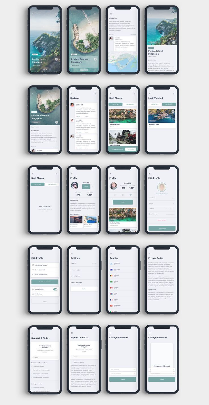 Gezi Travel App UI Kit on UI8 - draft -  Gezi Travel App UI Kit on UI8  - #App #...