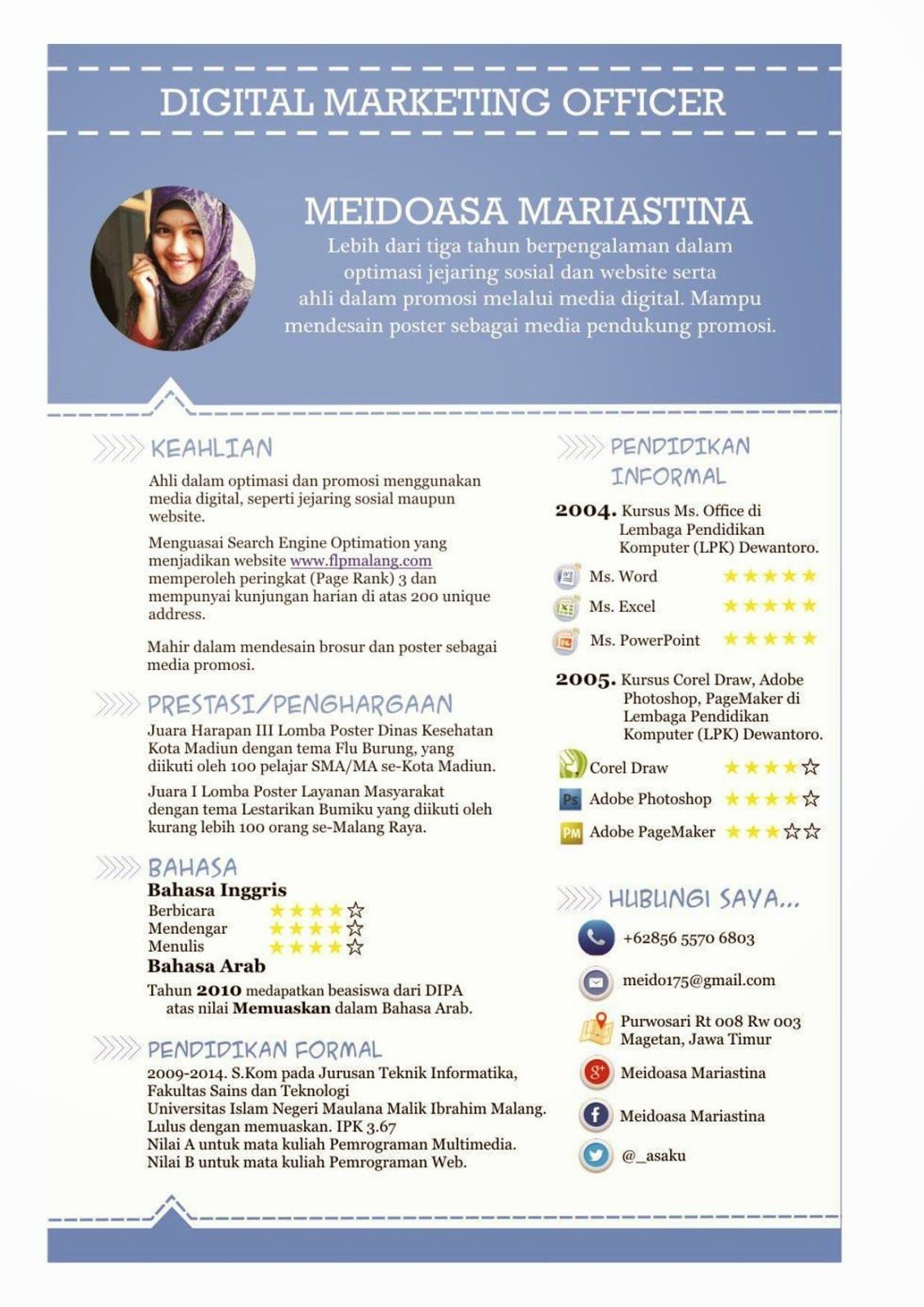 Contoh curriculum vitae menarik  Projects to Try  Pinterest